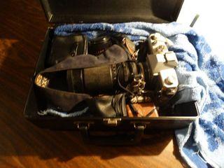 Mamiya camera w  accessories   case