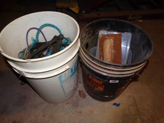 Two Five Gallon Buckets of Misc Tools
