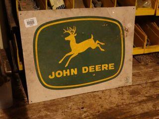 John Deer Metal Sign