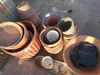 lot of various planters