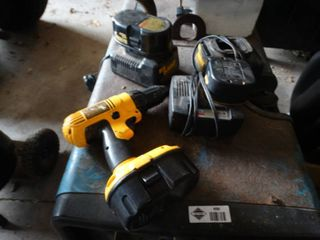 DeWalt Power Drill With 3 Batteries and Chargers
