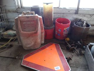 large lot of various hardware  electric fence parts   misc