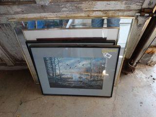 3 pcs framed artwork
