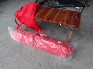 Two Folding Wooden Benches