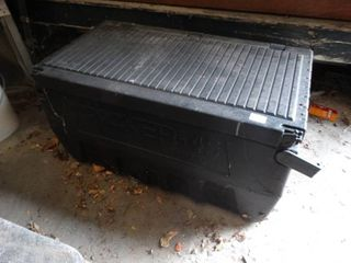 Plastic Work Box with Contents