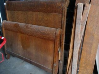 Wood Twin Sized Head and Foot Board