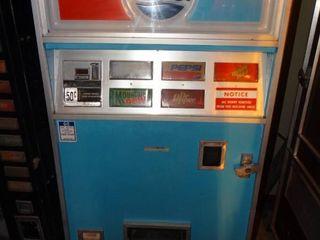 Dixie  Narco  Vintage Pepsi Soda Vending Machine W Coin Acceptor