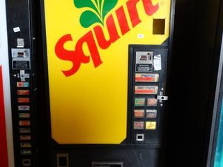 Squirt Soda Vending Machine W Coin Acceptor