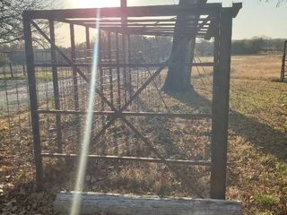 large metal Outdoor Storage Frame  lean to