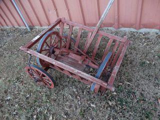 Wooden hay cart outdoor decor