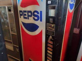Pepsi Soda Vending Machine W Coin   Bill Acceptor