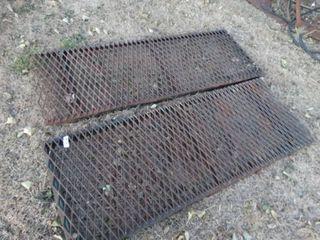 2 metal grate ramps