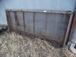 2 metal grate sections