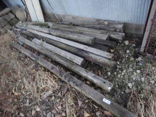 lot of wood posts