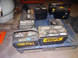 lot of several vehicle batteries