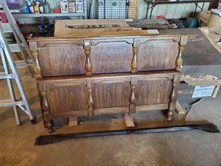 Full Sized Wood Headboard and Footboard