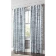 Allen   Roth Nelliston 84 in Indigo Polyester light Filtering Single Panel