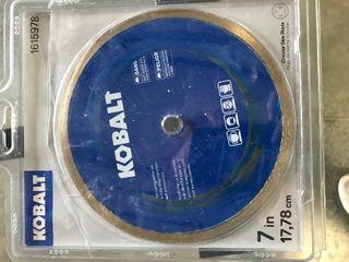 Kobalt 7  Inch Porcelain Tile Diamond Blade