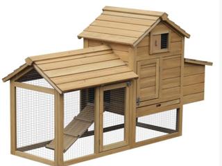 Pawhut Wooden Chicken Coop  A1
