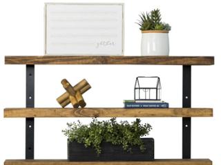 Del Hutson Designs Industrial Grace Three Teir Floating Shelf  D1