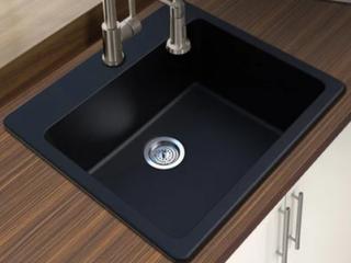 Winpro Black Granite Quartz Single Sink  A1