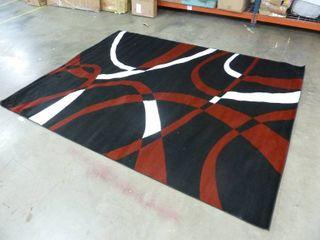 Red  Black  White 8ft x 10ft living Room Area Rug