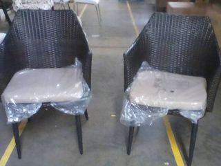 Pair Of Outdoor Patio Garden Wicker Chair