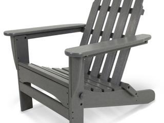 POlYWOOD Adirondack Slate Gray Chair  A2