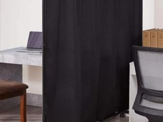 Privacy Room Divider  Set of 3   BlACK   A3