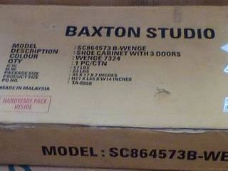 Braxton Studio 3 Door Shoe Cabinet  B3