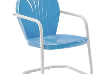 Crosley Furniture BlUE Metal Chair  A1