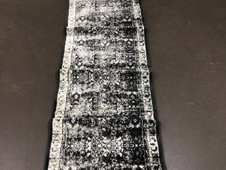 Unique loom Istanbul Collection Grey Black White 2 x6