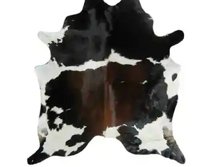 Brown Black White Real Natural Cowhide Rug Area Rugs Retail 322 49