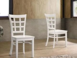 The Simple living Sienna Dinning Chair 2 Pcs Color White Oak