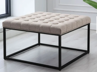 Kotter Home Square Button Tufted Ottoman  Retail 139 99
