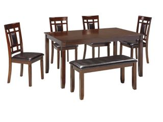 Bennox Brown 6 piece Dining Room Table Set  Retail 739 49