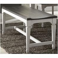 Allyson Park Wirebrushed White Wood Seat Bench  Retail 236 99