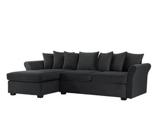 low Profile Sectional Sofa with left Facing Chaise  Velvet  Retail 669 99