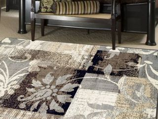 Impressions Messager Indoor Modern Patchwork 8 x10  Area Rug