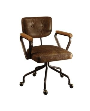 ACME Hallie Executive Office Chair  Vintage Whiskey Top Grain leather   Retail 426 49