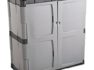 Rubbermaid Double Door Storage Cabinet   Base  18w x 18d x 36h  Gray Black