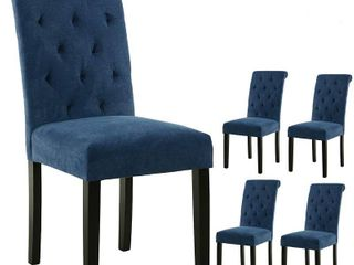 Gentry Tufted Fabric Dinning Chair Set
