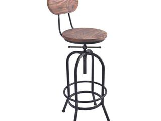 Todays Mentality Adele Industrial Adjustable Barstool