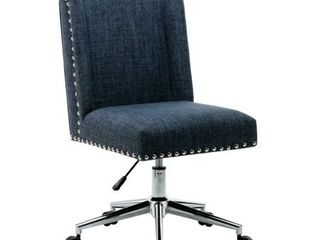 Porthos Home Office Chair With Fabric Upholstery  Studded Design  Retail 146 99