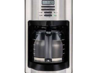 Mr  Coffee 12 Cup Programmable Coffee Maker with Rapid Brew System  Stainless Steel   Stainless Steel