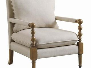 Upholstered Accent Arm Chair Beige