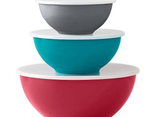 Food Network 6 pc  Mixing Bowl Set with lids