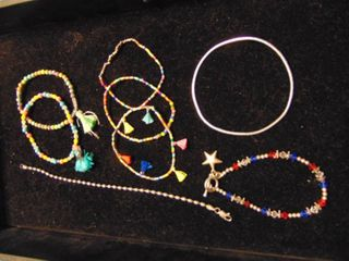 Bracelets  some glass beads and SS beads
