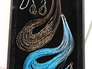 Beaded Necklaces and Earrings