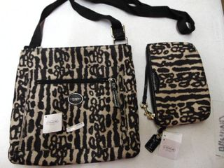 Coach Handbag and Zipper Pouch